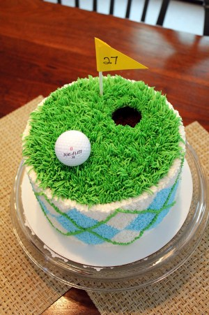 Golf Birthday Cakes Like This With Buttercream Tastier Then Fondant Golf Themed Cake