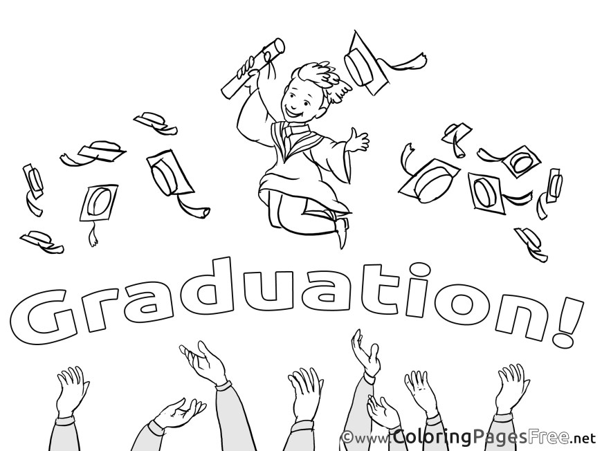 Graduation Coloring Pages Baccalaureate Kids Graduation Coloring Page