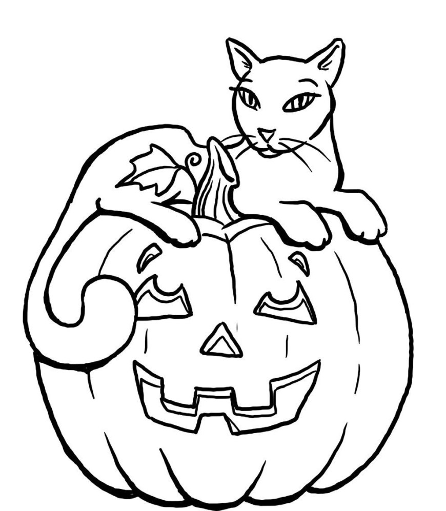 Halloween Cat Coloring Pages Halloween Cat Coloring Pages Printable Halloween Holidays Wizard