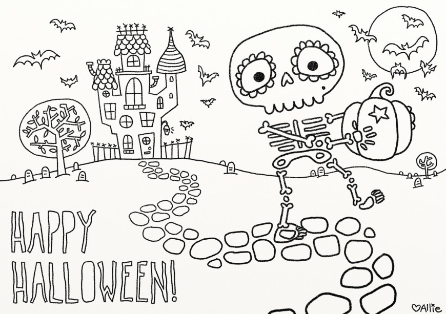 Halloween Coloring Pages Free 9 Fun Free Printable Halloween Coloring Pages