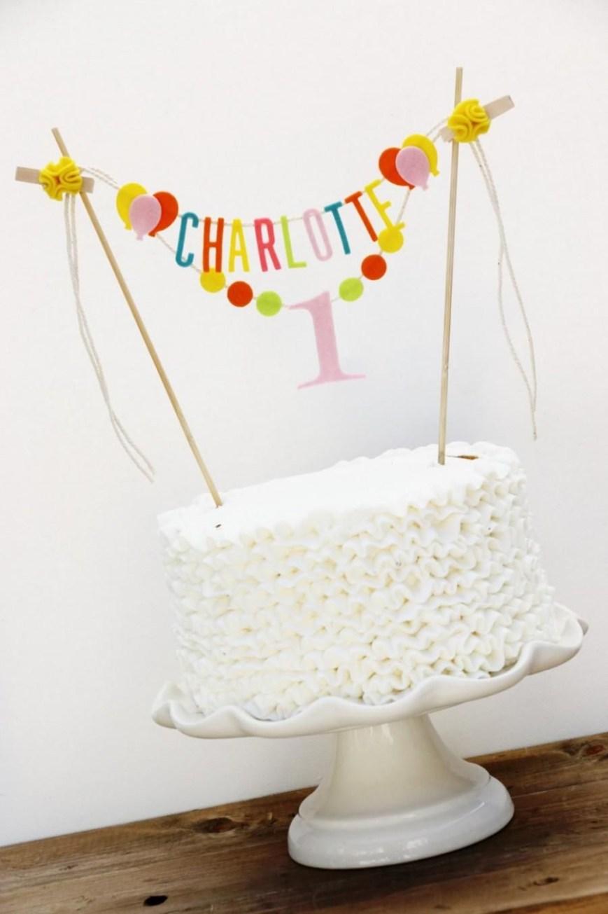 Happy Birthday Cake Banner Birthday Cake Banner Personalized Birthday Cake Banner Custom Cake