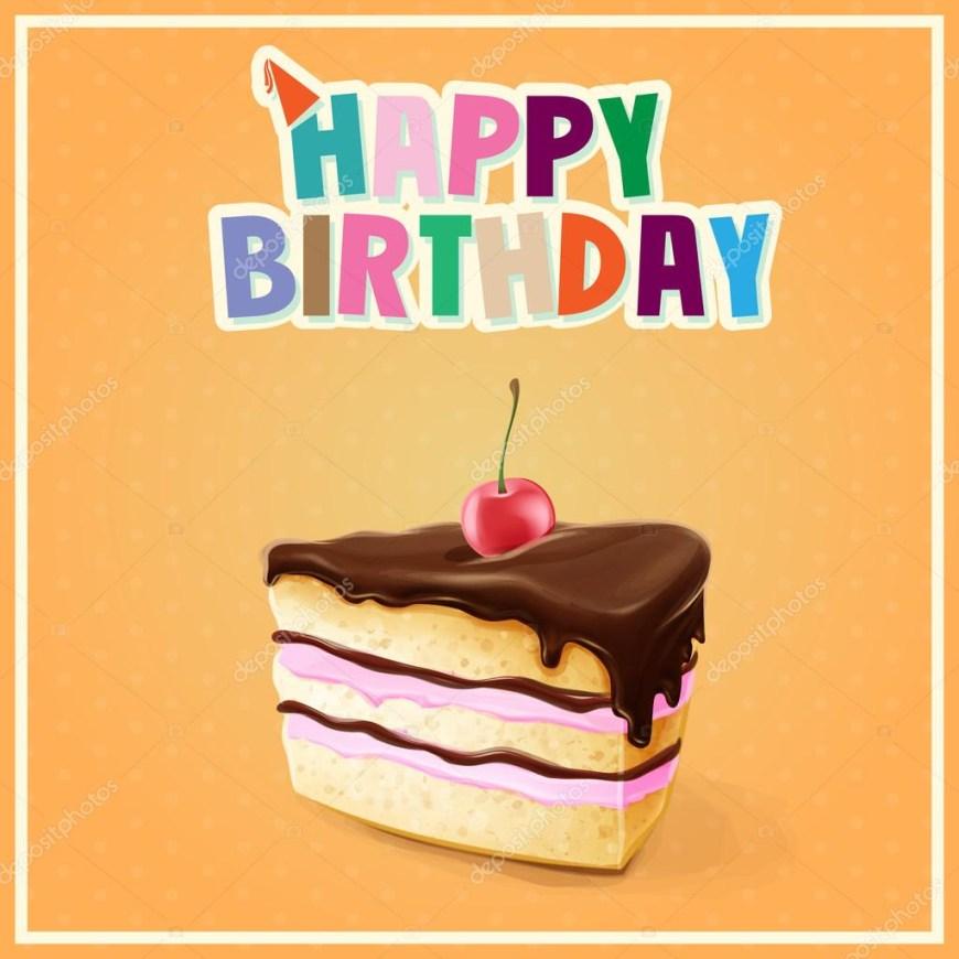 Happy Birthday Cake Banner Happy Birthday Cake Stock Vector Mollicart 91812760