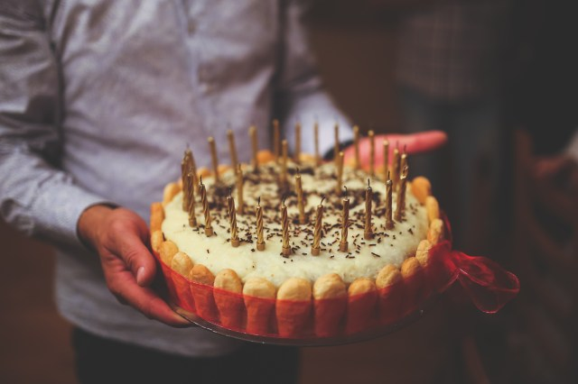 Happy Birthday Cake For Men Free Photo In Mens Hands Sweet