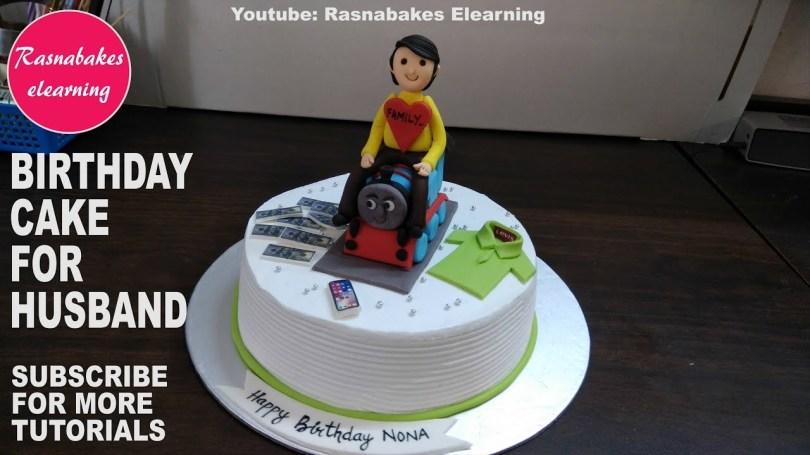 Happy Birthday Cake For Men Happy Birthday To My Husbandbirthday Cake For Menbirthday Cake For