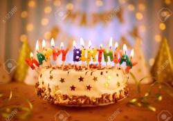 Happy Birthday Cake Pic Happy Birthday Cake With Candles Stock Photo Picture And Royalty