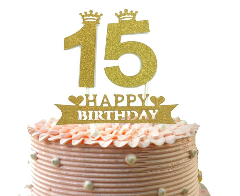 Happy Birthday Cake Topper Buy 15th Cake Topper And Happy Birthday Party Supplies Decoration