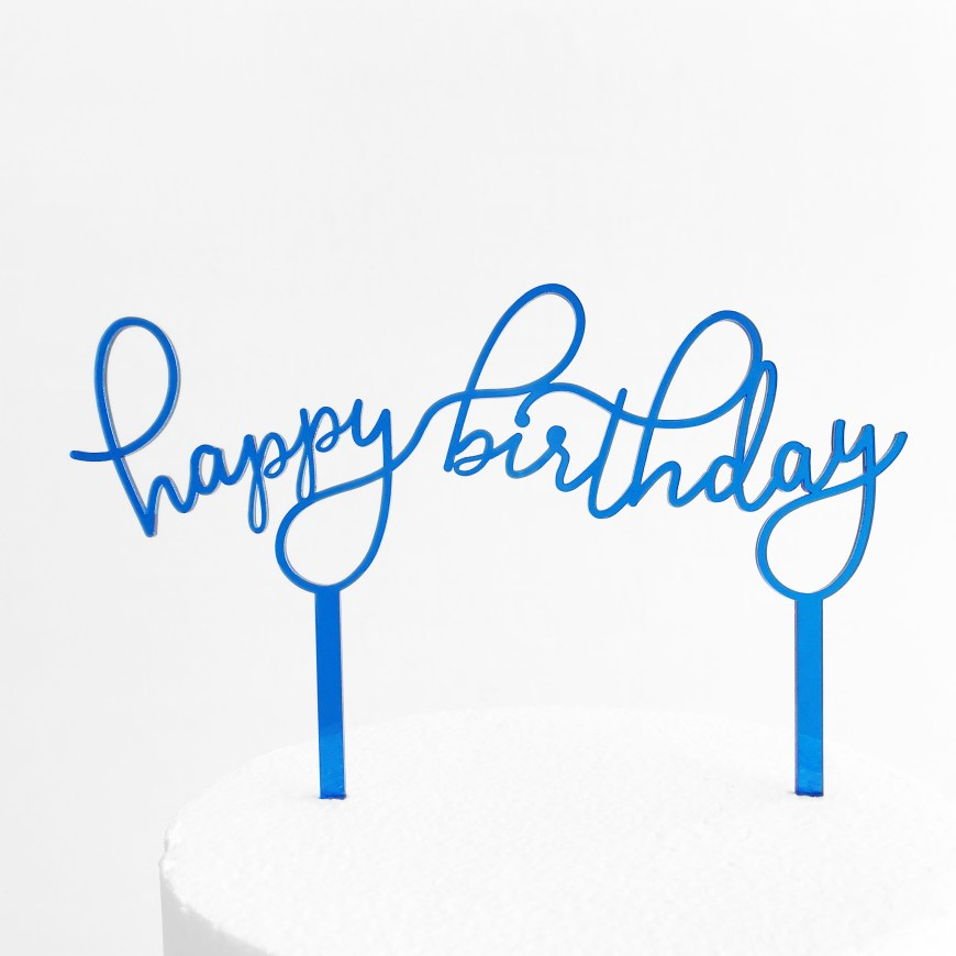 Happy Birthday Cake Topper Floating Happy Birthday Cake Topper Sandra Dillon Design