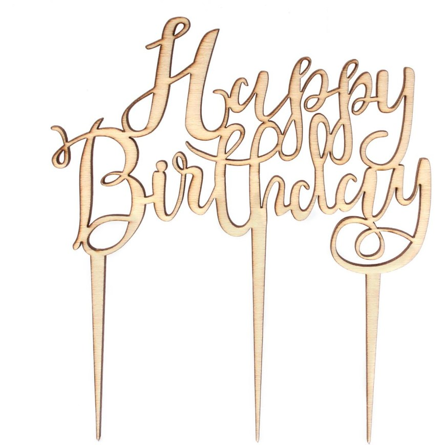 Happy Birthday Cake Topper Ginger Ray Wooden Happy Birthday Cake Topper Hobcraft