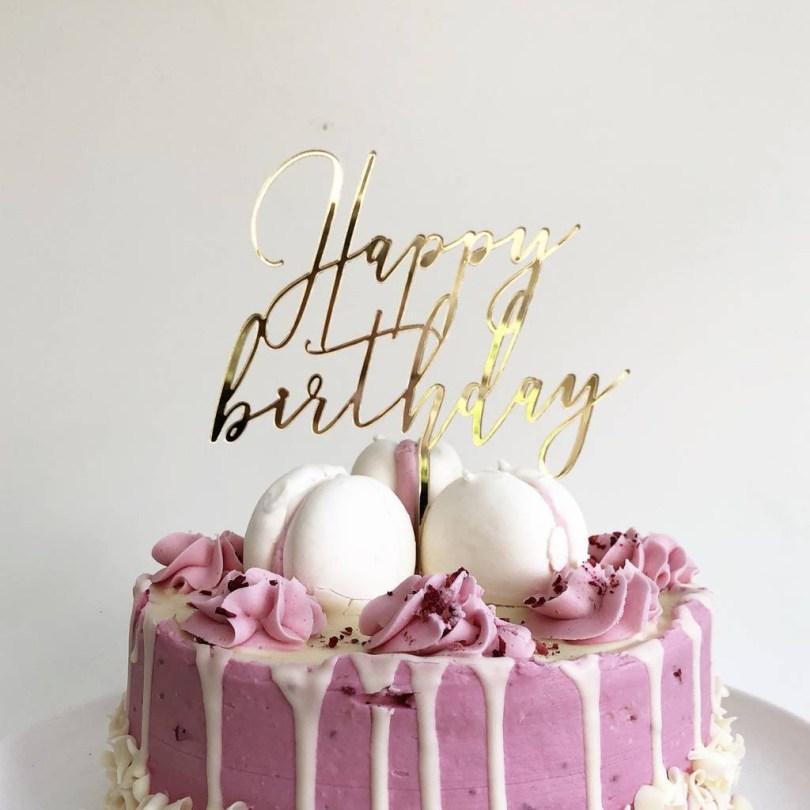 Happy Birthday Cake Topper Happy Birthday Cake Topper Heres To Us Notonthehighstreet