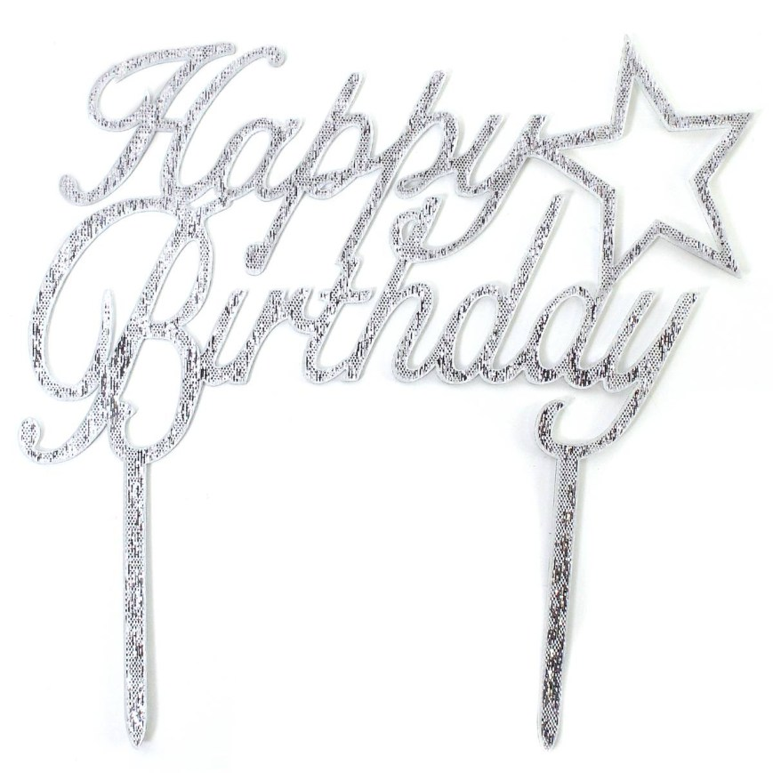 Happy Birthday Cake Topper Happy Birthday Cake Topper Hobcraft
