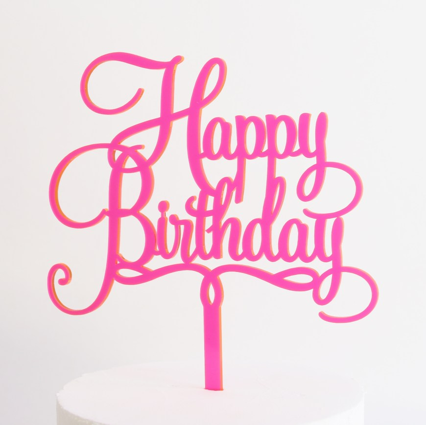 Happy Birthday Cake Topper Happy Birthday Cake Topper Sandra Dillon Design
