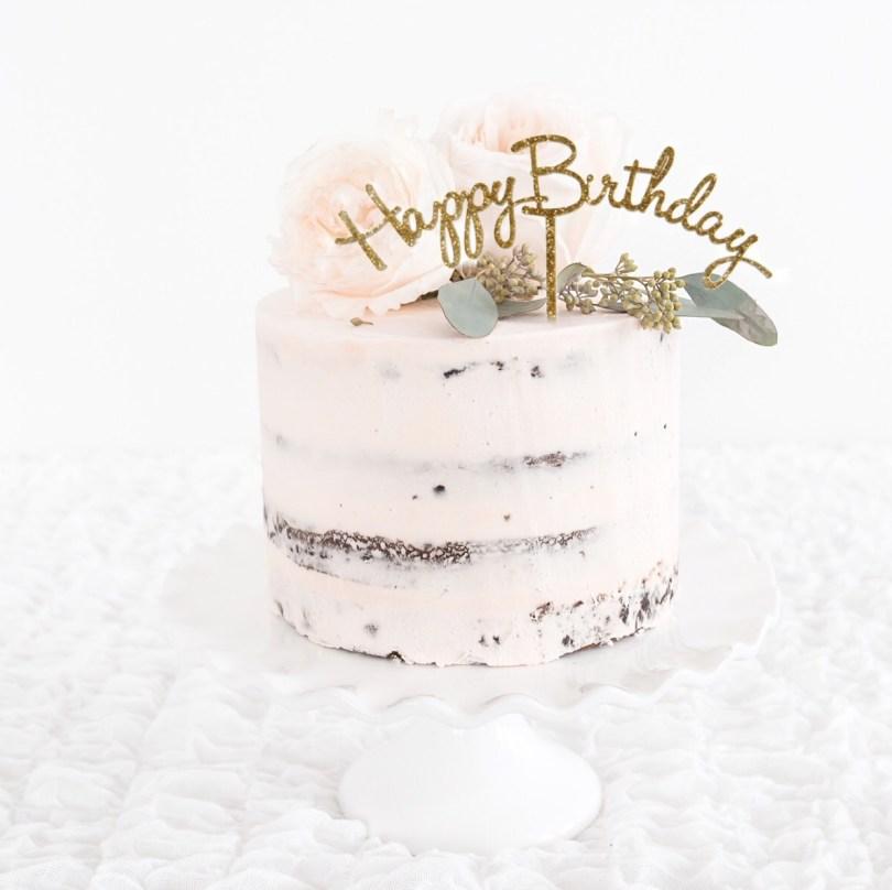 Happy Birthday Cake Topper Happy Birthday Gold Glitter Cake Topper Party For Stella Stylish