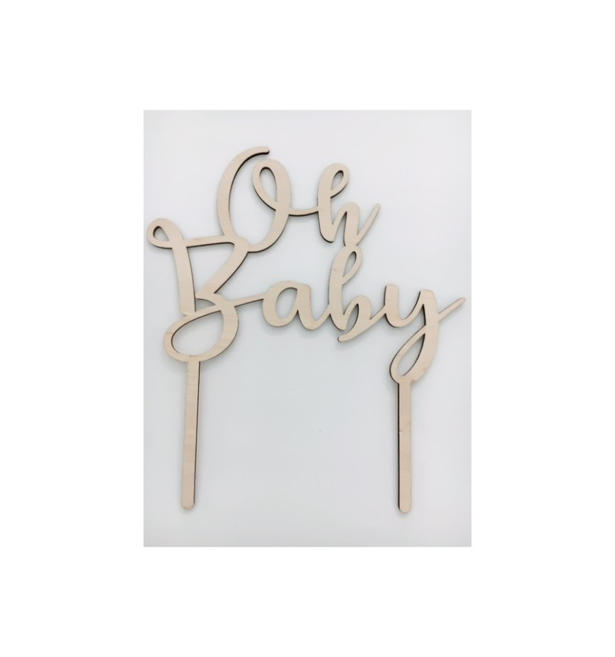 Happy Birthday Cake Topper Oh Ba Cake Topper Aus Holz Jaju Berlin