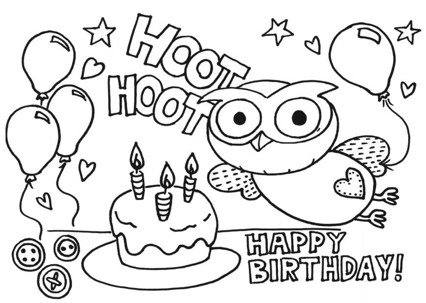 Happy Birthday Coloring Page 27 Printable Birthday Coloring Pages Selection Free Coloring Pages