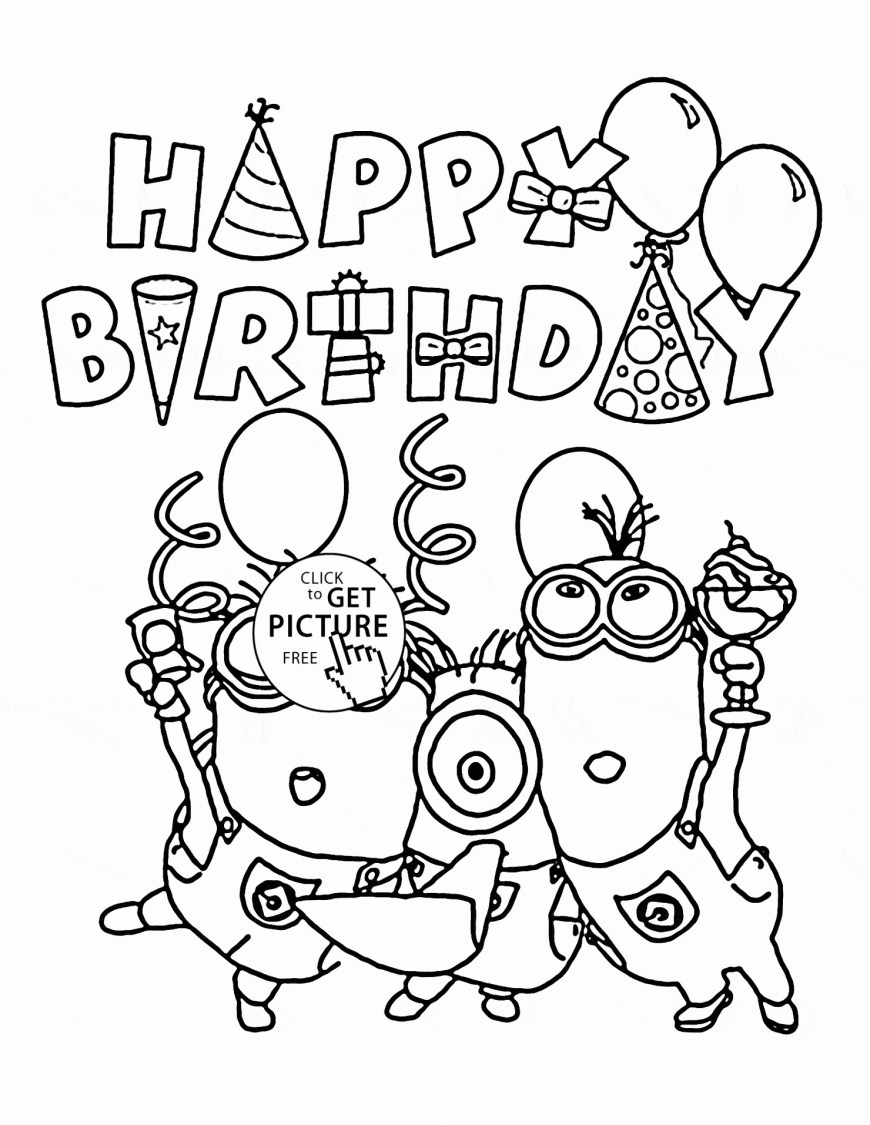 Happy Birthday Coloring Page Archaicawful Happy Birthday Coloring Pages Unlimited Page With