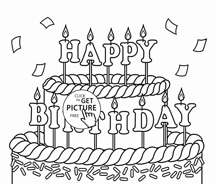 Happy Birthday Coloring Page Free Birthday Coloring Pages To Print Elegant Happy Birthday