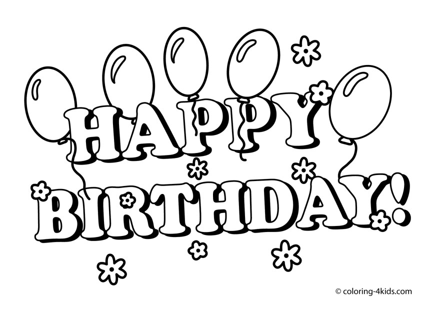 Happy Birthday Coloring Page The Bear In A Balloon Happy Birthday Coloring Page For Kids Holiday
