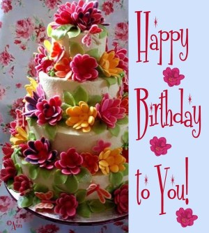 Happy Birthday Flower Cake 23 Delectable Floral Cakes Cakes And Cards Bizcocho Cumpleaos
