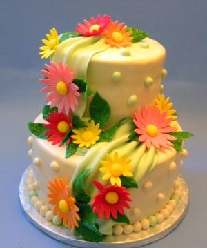Happy Birthday Flower Cake Flower Cakes Decoration Ideas Little Birthday Cakes