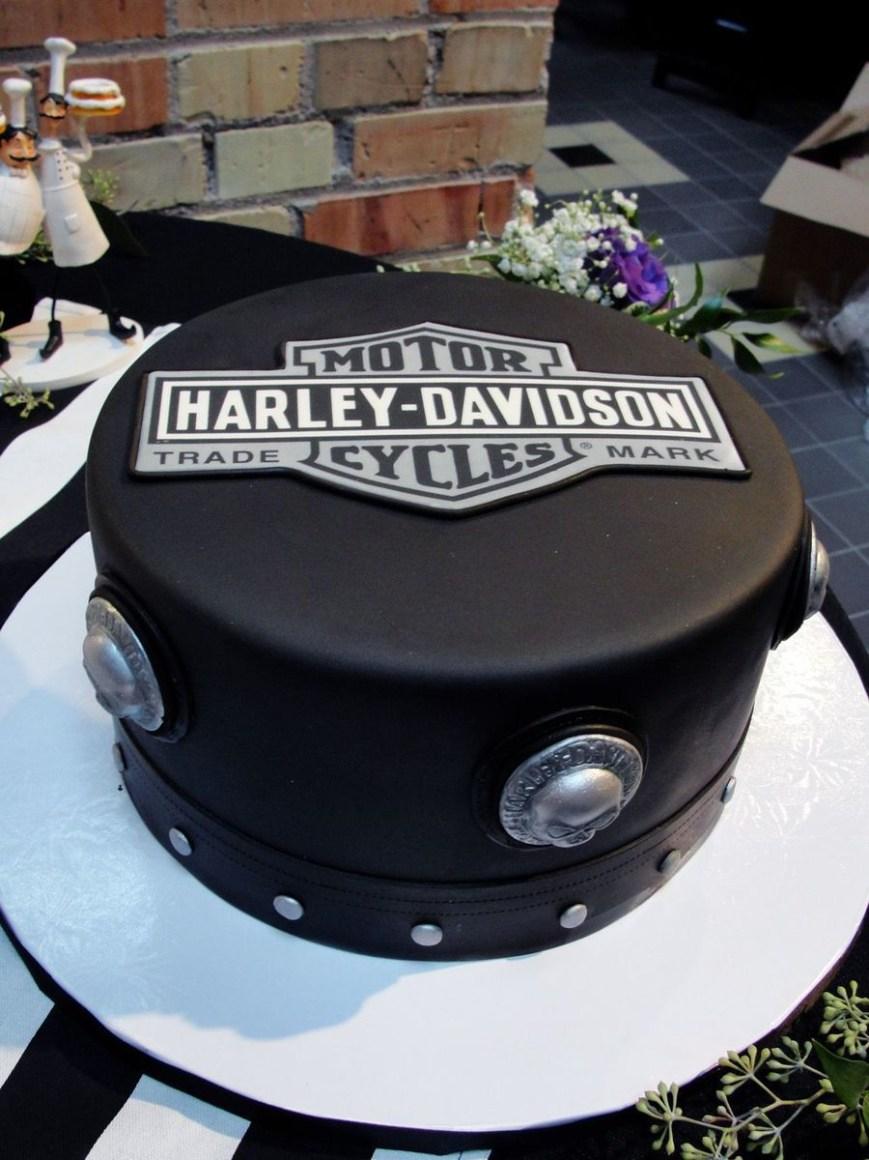 Harley Davidson Birthday Cakes Black And White Harley Cake Biker Birthday Pinterest Cake