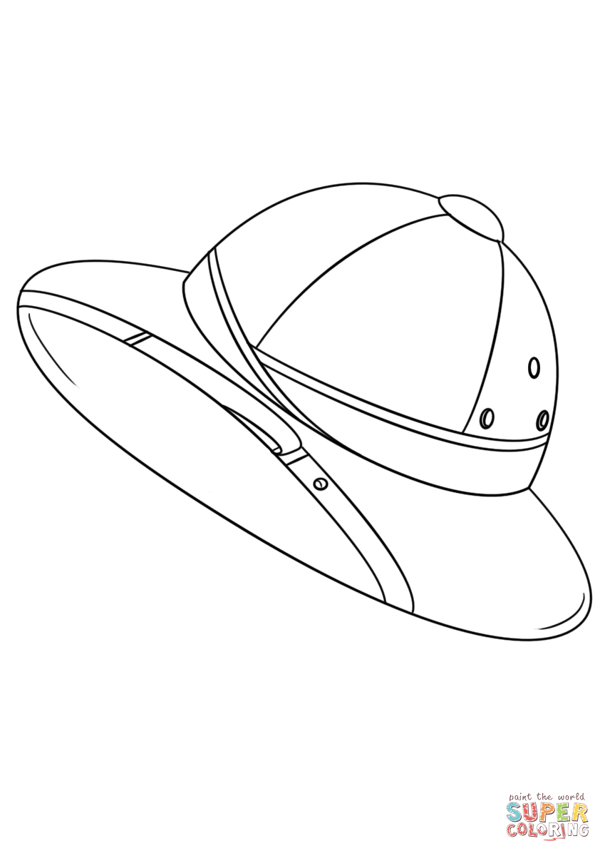 Hat Coloring Page Safari Hat Coloring Page Free Printable Coloring Pages