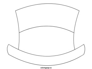 Hat Coloring Page Snowman Top Hat Coloring Page Xyzcoloring