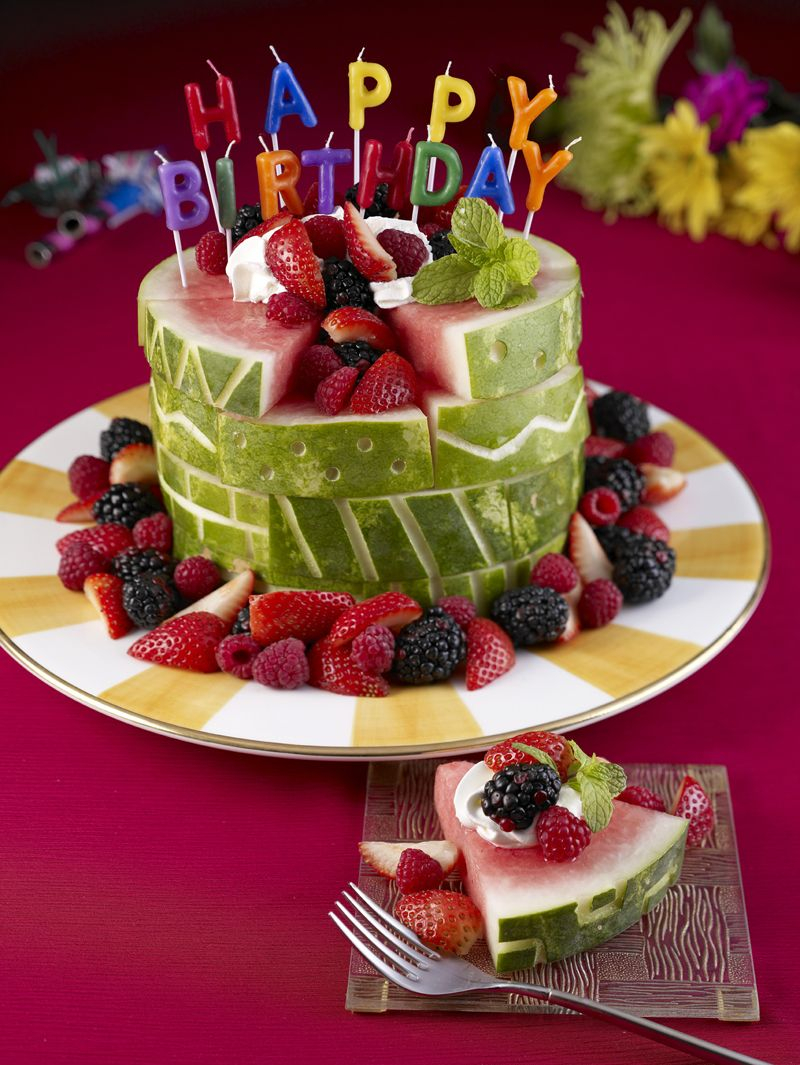 Healthy Birthday Cake Watermelon Carvings Including This Cute Cake A Ba Carriage A