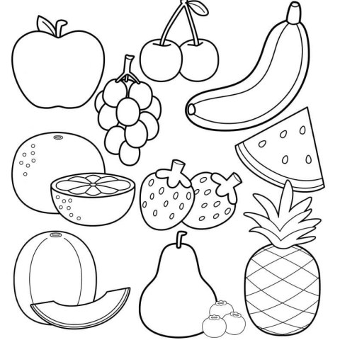Healthy Food Coloring Pages Printable Healthy Eating Chart Coloring Pages Happiness Is Homemade