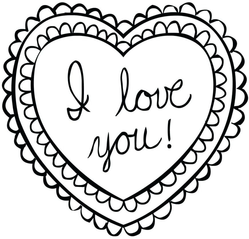 Heart Coloring Page Best Of Coloring Valentine Heart Coloring Page Valentines Pages