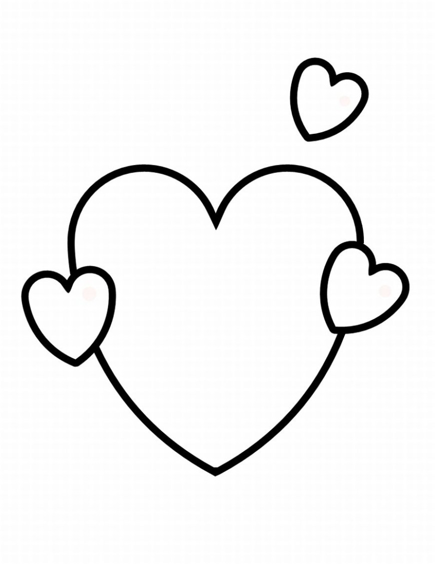 Heart Coloring Page Heart Coloring Pages 2 Coloring Pages To Print