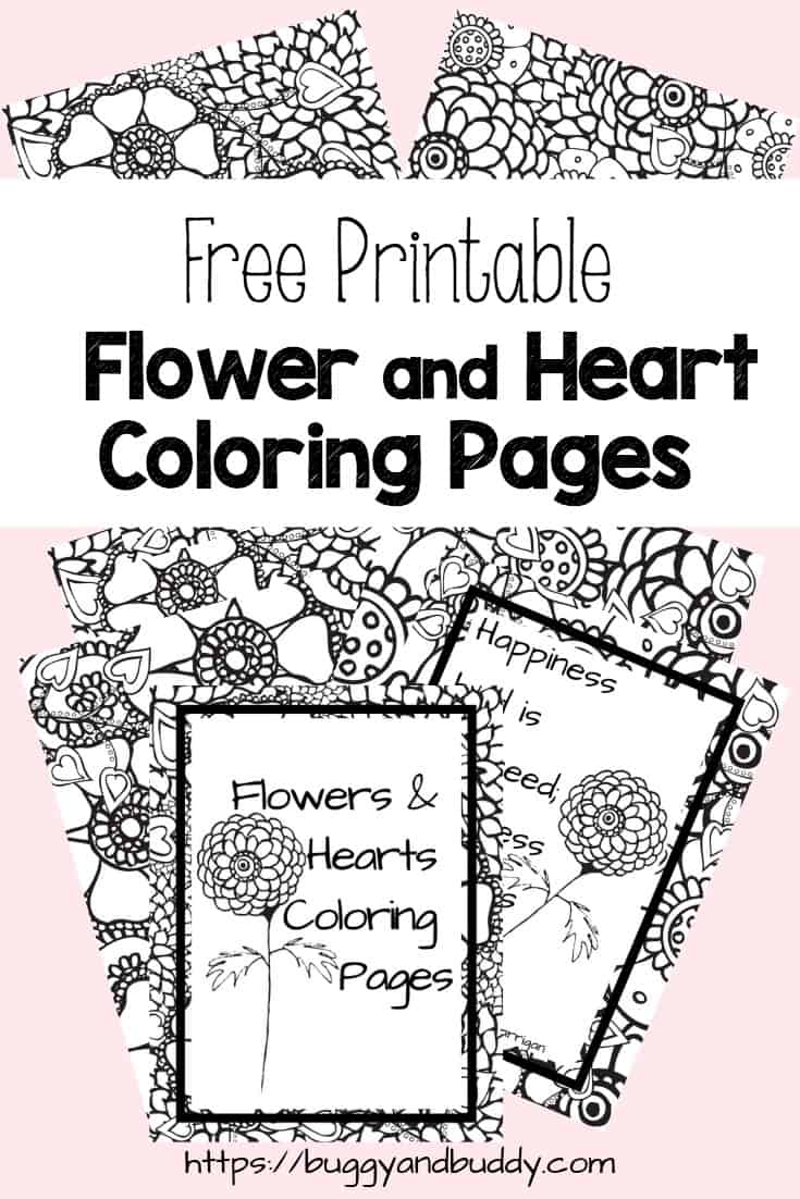 Hearts Coloring Pages Free Printable Flower And Heart Coloring Pages Buggy And Buddy
