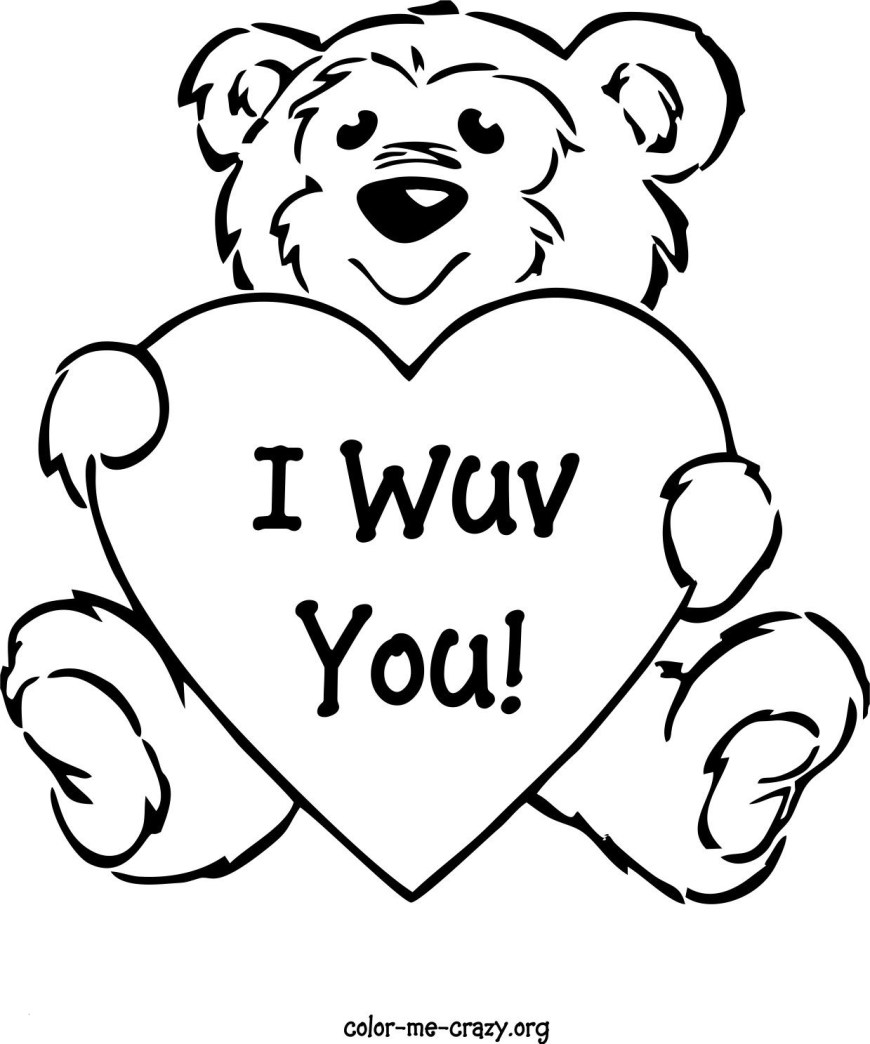 Hearts Coloring Pages Valentines Day Hearts Coloring Pages Wonderful Get Well Soon Teddy