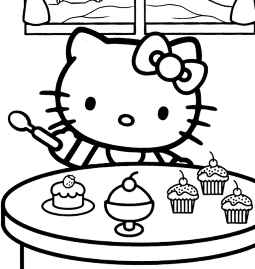 Hello Kitty Color Pages Introducing Hello Kitty Coloring Pages Free Online Game Mermaid In