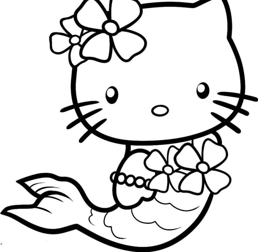 Hello Kitty Color Pages Printable Hello Kitty Mermaid Coloring Pages Coloring Pages Fr