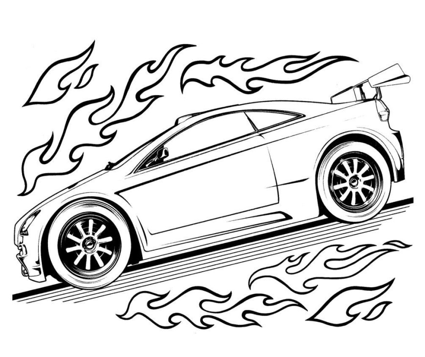 Hot Wheels Coloring Pages Hot Wheels Tune Up Coloring Page For Wheels Coloring Pages Best