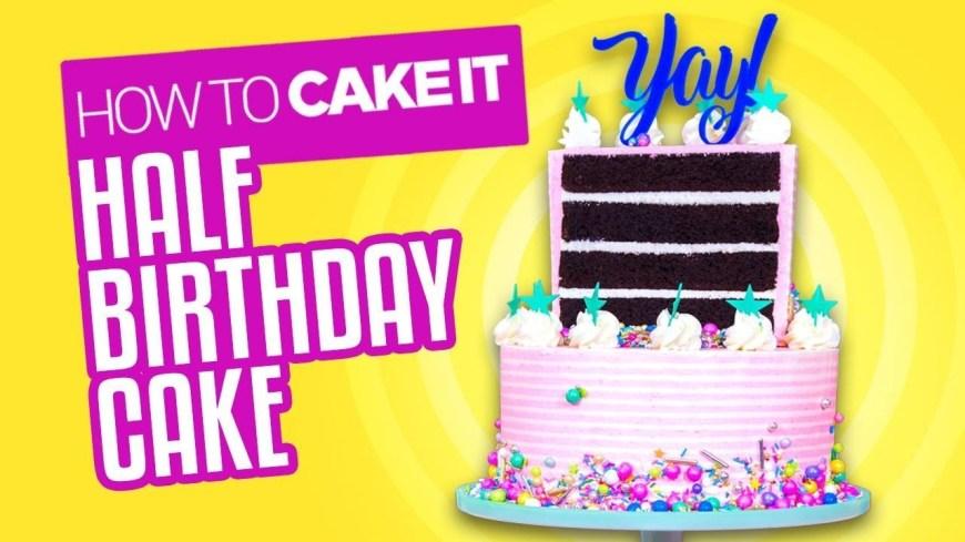Images Of Birthday Cake Chocolate Banana Half Birthday Cake How To Cake It Youtube