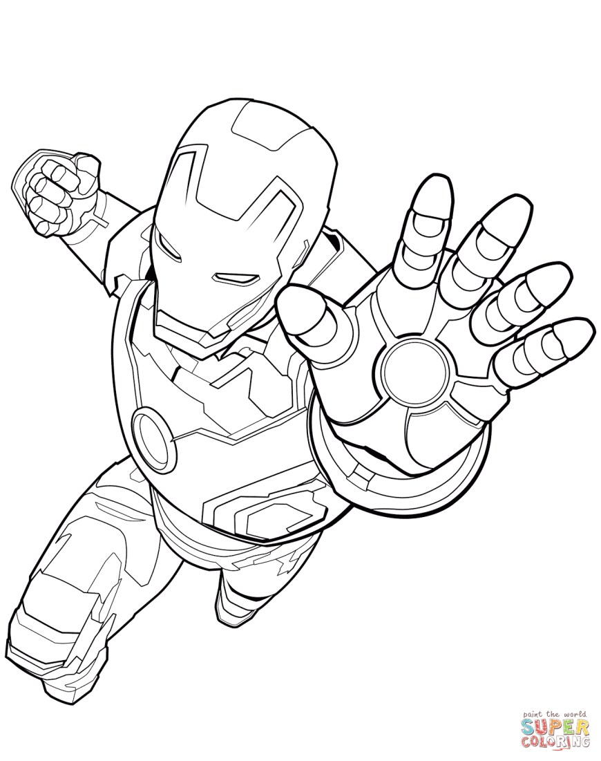 Iron Man Coloring Page Avengers Iron Man Coloring Page Free Printable Coloring Pages