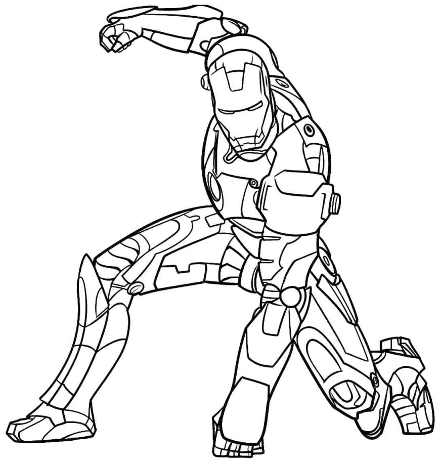 Iron Man Coloring Page Iron Man Coloring Pages Diywordpress