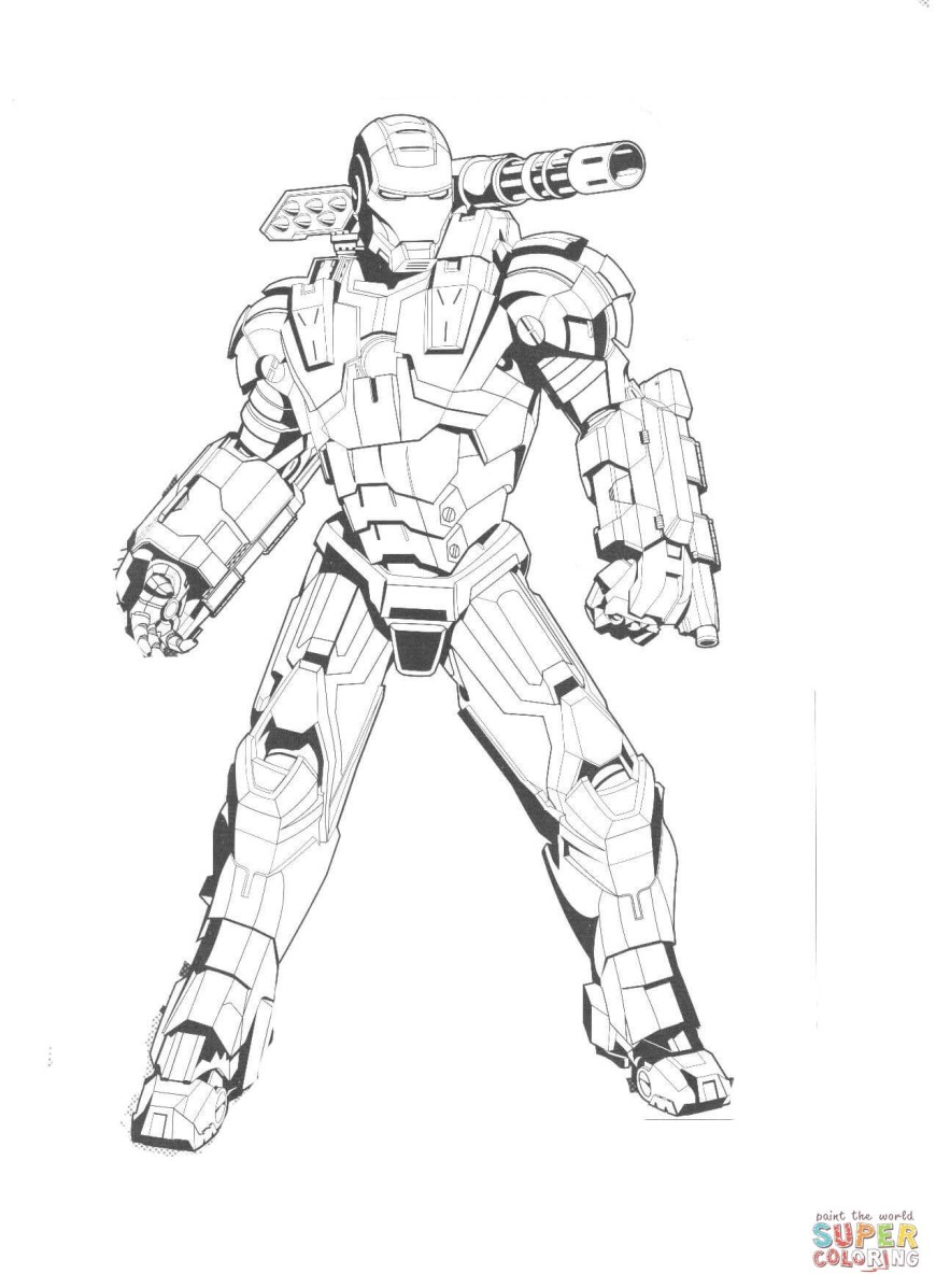 Iron Man Coloring Page Iron Man Coloring Pages Free Coloring Pages