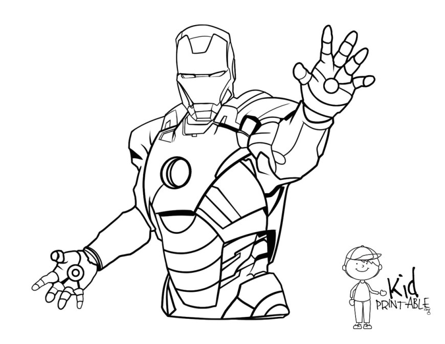 Iron Man Coloring Page Ironman Coloring Pages Parumi