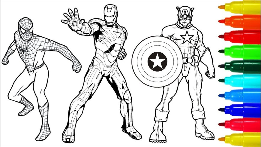 Iron Man Coloring Page Spiderman Wolverine Iron Man Coloring Book Colouring Pages For