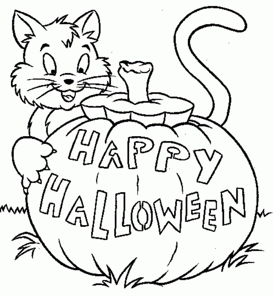 Jack O Lantern Coloring Page How To Draw Jack O Lantern Coloring Page Image On Pinterest At