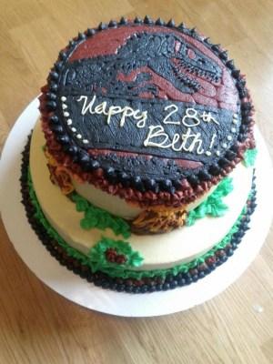 Jurassic Park Birthday Cake Jurassic Park Birthday Cake For My Sister Cakecentral