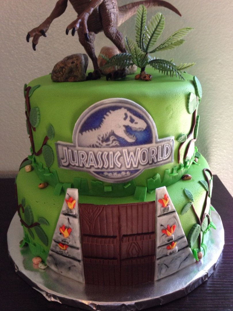 30 Amazing Photo Of Jurassic Park Birthday Cake Davemelillo Com