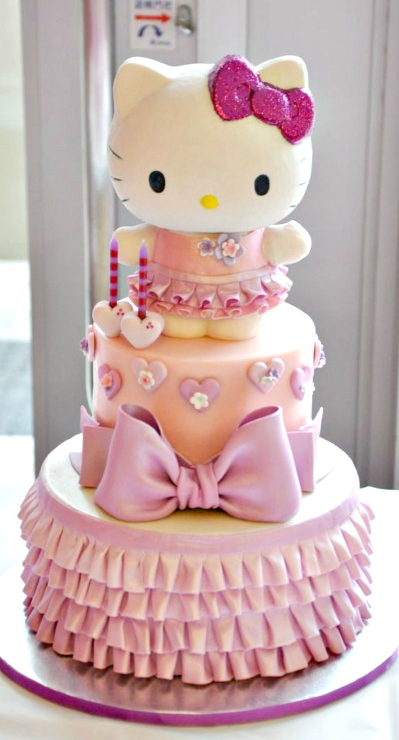 Kitty Birthday Cake Hello Kitty Cake Cakes And Cupcakes For Kids Birthday Party