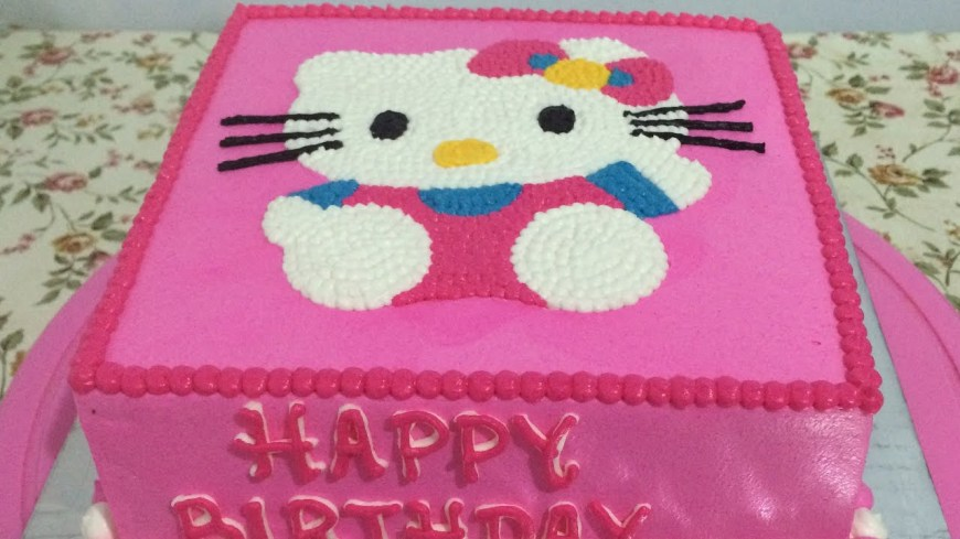 Kitty Birthday Cake Hello Kitty Cake Easy How To Make Birthday Cake Youtube
