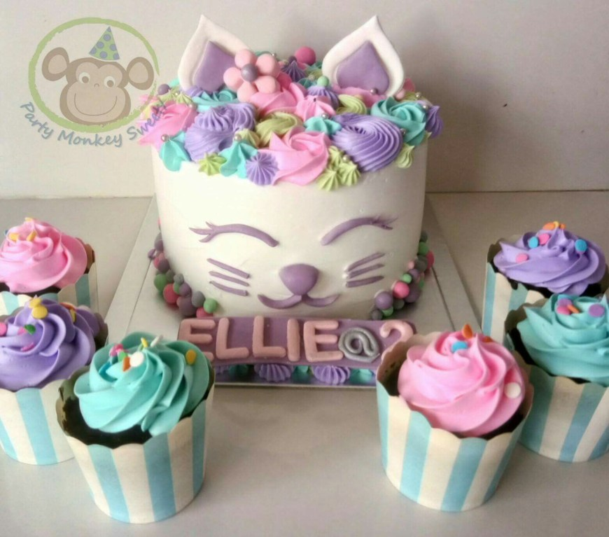 Kitty Birthday Cake Kitty Birthday Cake Cat Cake Kitten Cake Lilly Bday Pinterest