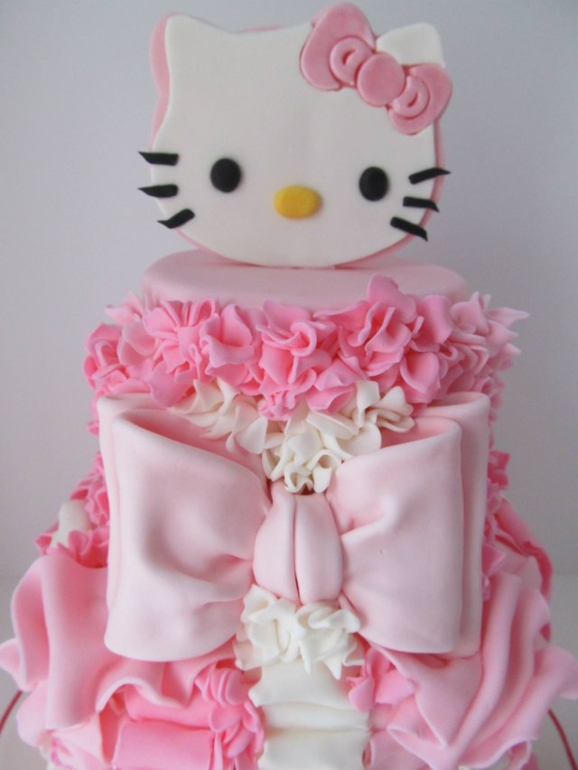 Kitty Birthday Cake Pretty In Pink 4th Birthday Cake Cakecentral