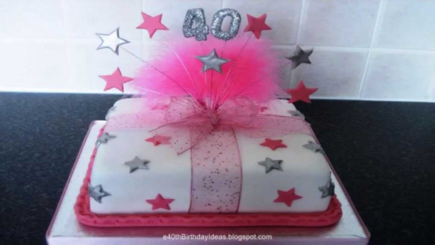 Ladies Birthday Cakes 40th Birthday Cakes Birthday Cakes For 40th Birthday Celebration