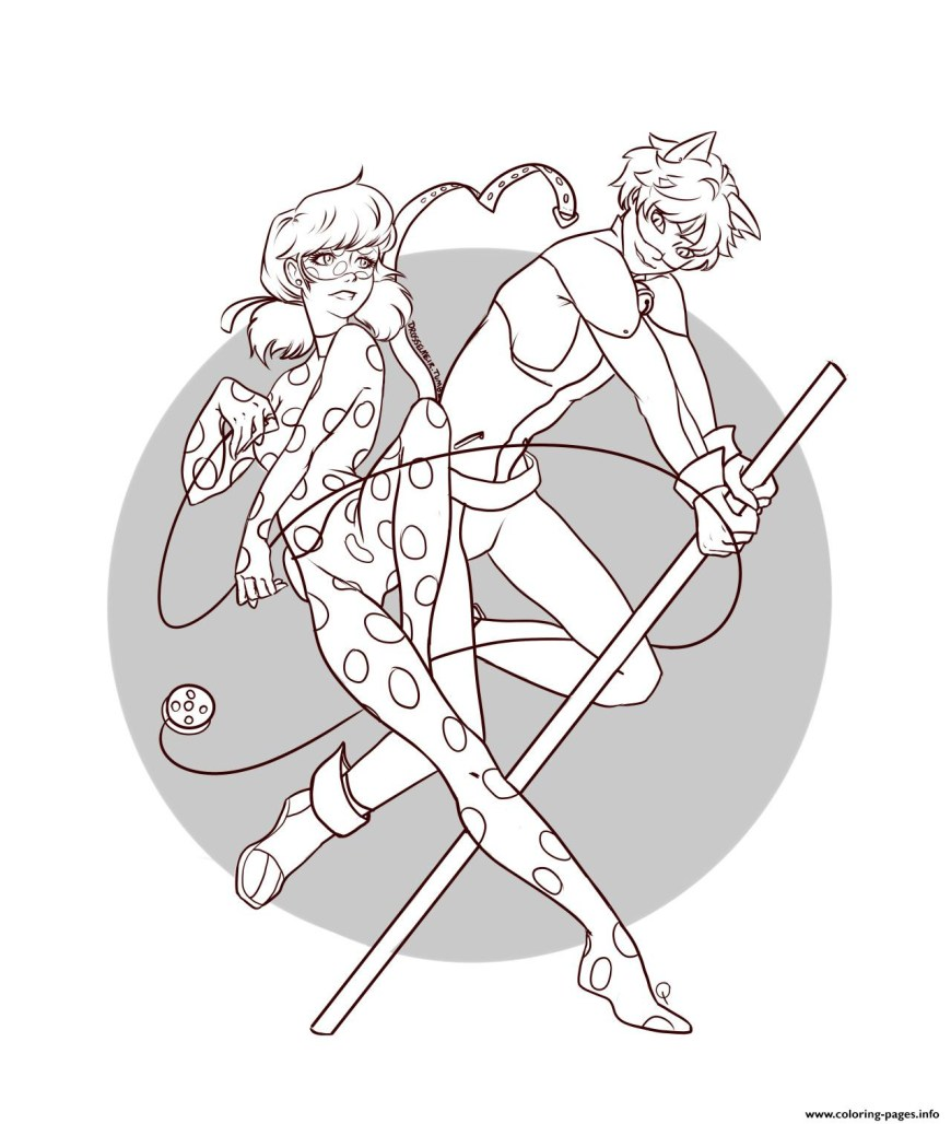 Ladybug And Cat Noir Coloring Pages Ladybug And Cat Noir Coloring Pages Color Bros
